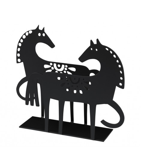 Napkin holder Happy Horse black