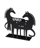 Držák na ubrousky Happy Horse black