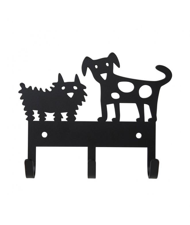 Kovový věšáček na zeď  Dog Meeting black