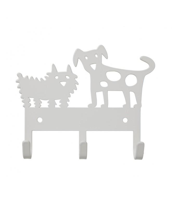 Věšáček na zeď  Dog Meeting white 14x11