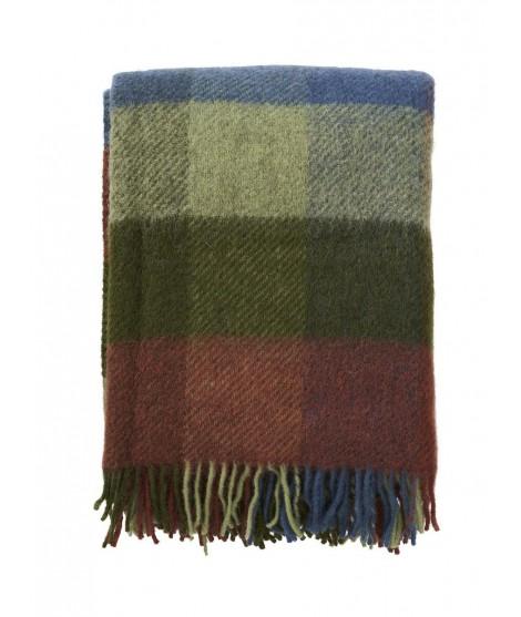 Wool throw Gotland multi green 130x200