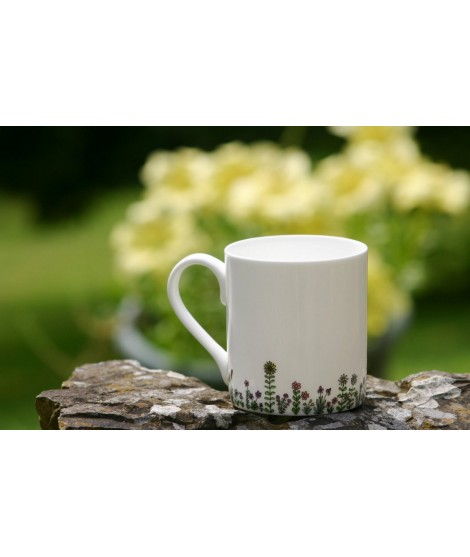 Porcelain mug Flowers 250ml