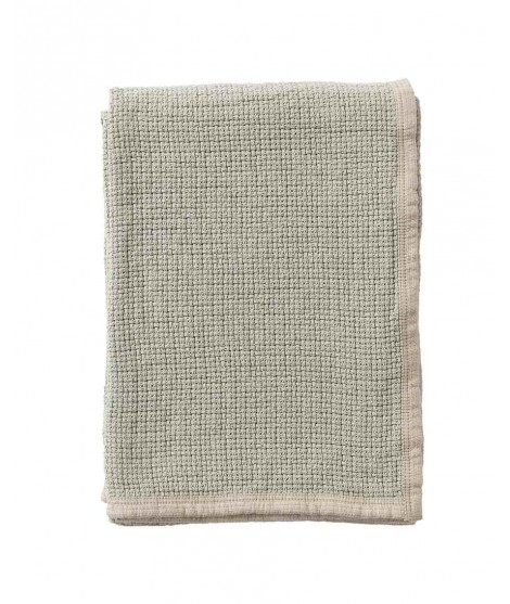 Cotton blanket Decor dusty green 125x170
