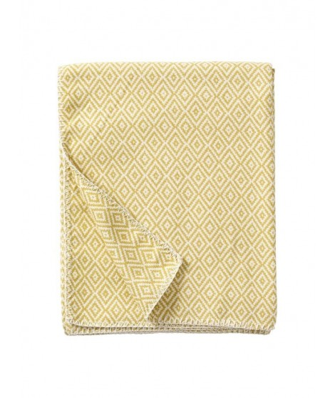 Cotton blanket Stella yellow 140x180