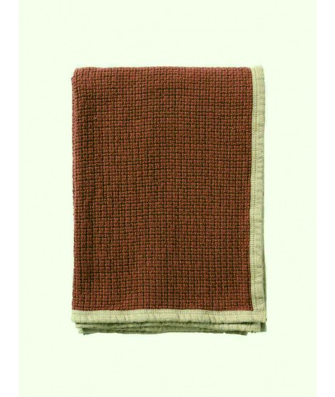 Cotton blanket Decor rust 125x170