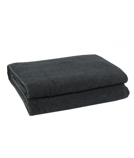 Bedspread blanket Soft-Fleece antracite