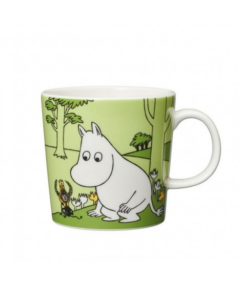 Porcelain mug Moomintroll glassgreen 300ml