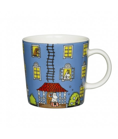 Porcelain mug Moomin House blue 300ml