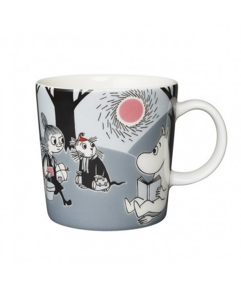 Porcelain mug Moomin Adventure grey 300ml