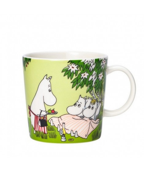 Porcelain mug Moomin Relaxing green 300ml