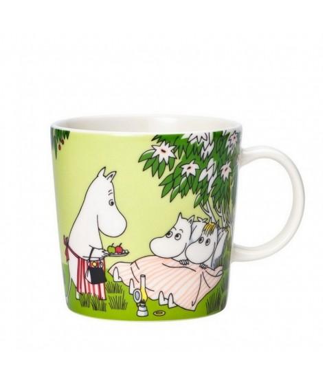 Porcelain mug Moomin Relaxing green 300ml