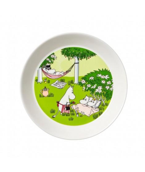 Porcelain plate Moomin Relaxing green 19cm