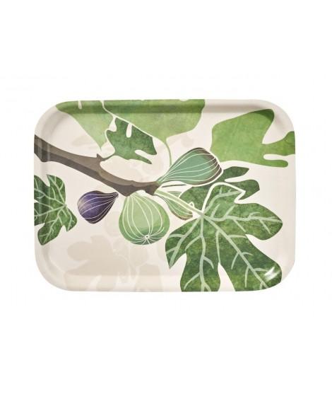 Obdélníkový tác Figs green 27x20