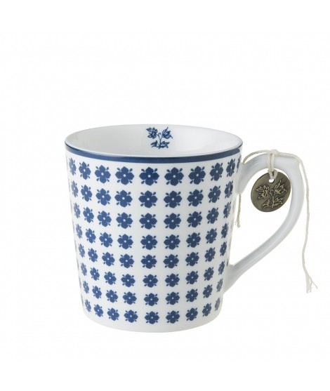 Porcelain mug Humble Daisy blue 350ml