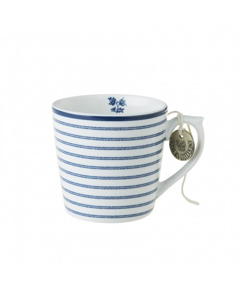 Porcelain mug Candy Stripe blue 240ml