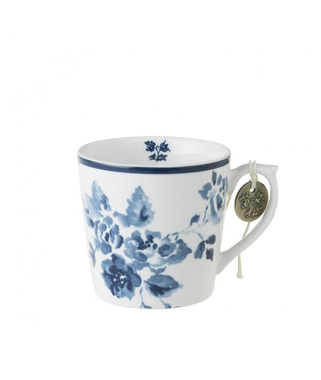 Porcelain mug China Rose blue 240ml