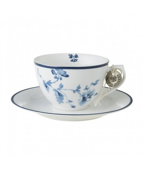 Porcelain cup and saucer China Rose blue 260ml