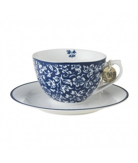 Porcelain cup and saucer Sweet Alyssum blue 260ml