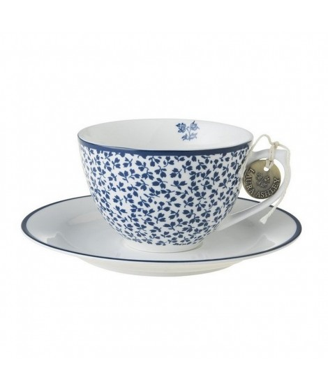 Porcelain cup and saucer Floris blue 260ml