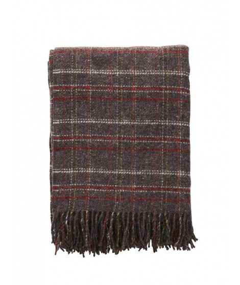 Wool throw Square brown red 130x200
