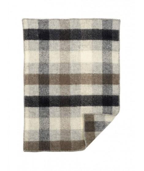 Woolen blanket Gotland baby grey 65x90