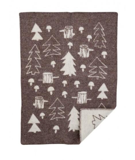 Wool Baby blanket Mushroom brown REC 65x90