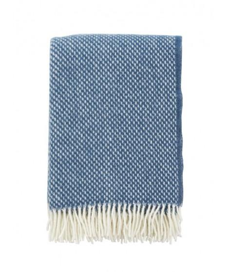 Wool throw Preppy blue 130x200