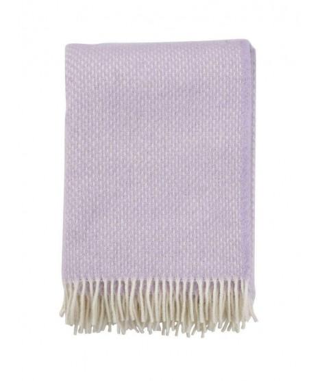 Wool throw Preppy lilac 130x200