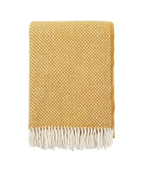 Wool throw Preppy mustard 130x200