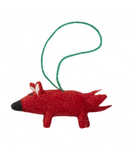 Felted decoration Fox red 9x6
