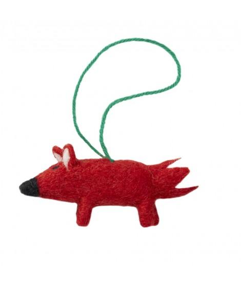 Plstěná dekorace Fox (liška) 9x5