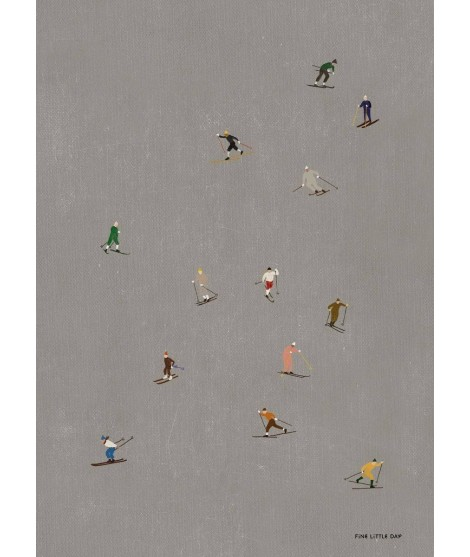 Poster Skiers 40x50
