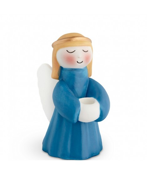 Kähler Porcelain Angel Christmas blue H10