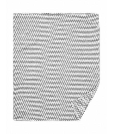 Bavlněná dětská deka Chevron grey 70x90