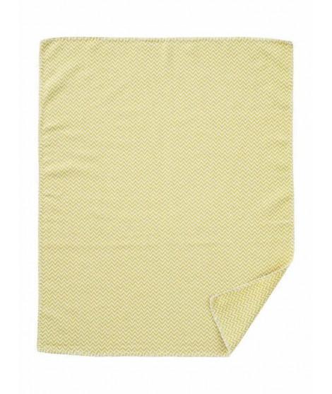 Bavlněná dětská deka Chevron yellow 70x90