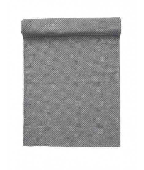 Cotton table runner Peak grey 45x150