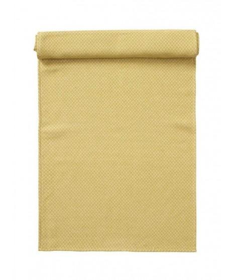 Bavlněný běhoun na stůl Peak yellow 45x150