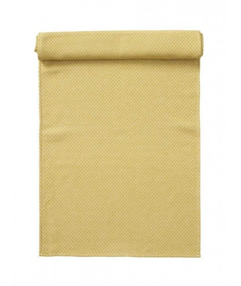 Cotton table runner Peak yellow 45x150
