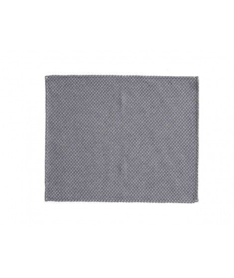 Cotton table mat Peak grey 2-set 45x35