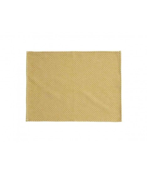 Cotton table mat Peak yellow 2-set 45x35