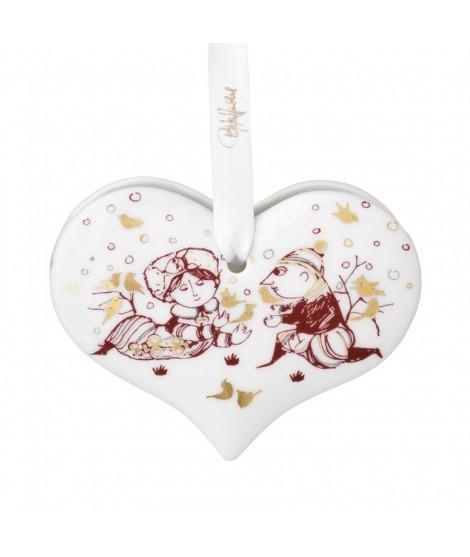Wiinblad Christmas Heart red H6,5