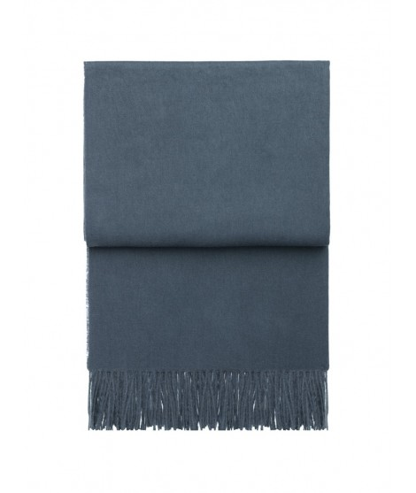 Wool throw Classic midnight blue 130x200