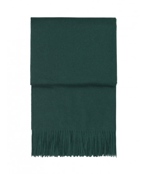Wool throw Classic evergreen 130x200