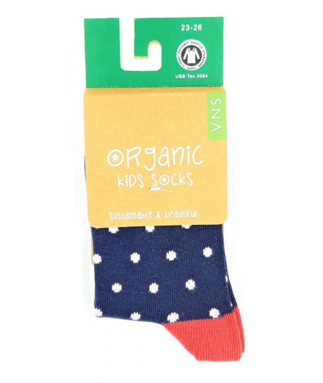 VNS Organic kids socks Dot navy