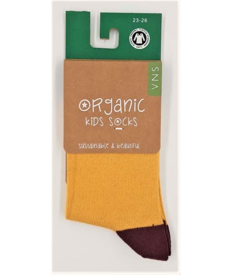 Dětské ponožky VNS Organic kids Plain yellow brown