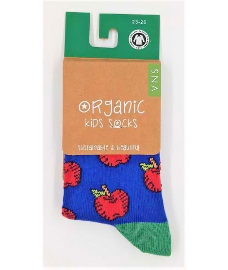 VNS Organic kids socks Apple red