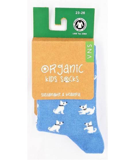 Dětské ponožky VNS Organic kids Small Dog blue