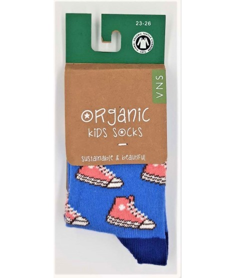 Dětské ponožky VNS Organic kids Shoes blue pink