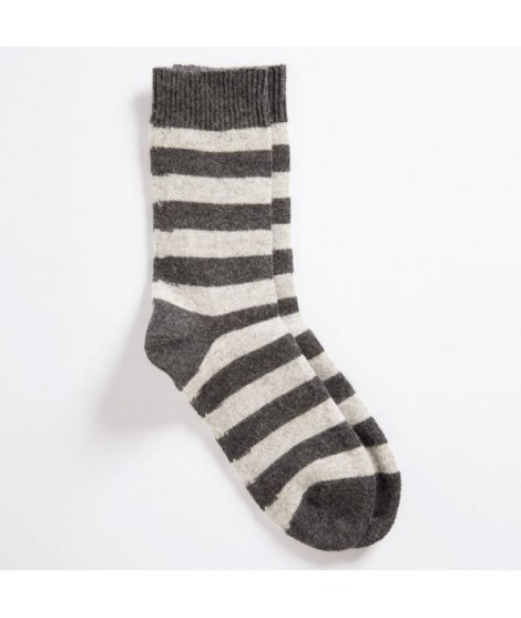 Woolen socks VNS Stripe grey 35-38