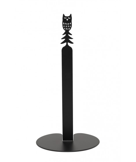 Kitchen paper roll holder Owl black d15x29,5